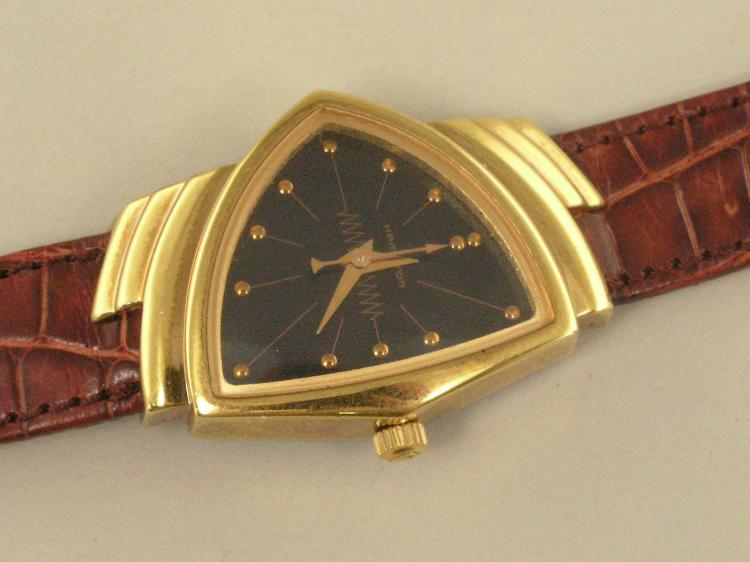 Armbanduhr: Herrenuhr 'Hamilton Electric Ventura Re-Issue', neuwertig