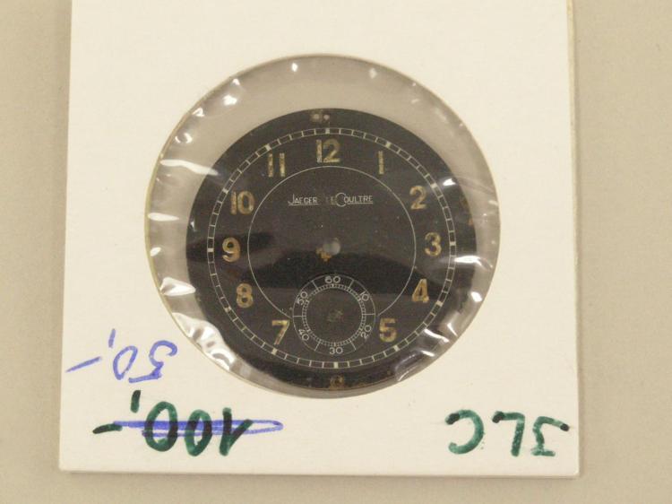 Armbanduhr: Zifferblatt einer militärischen Armbanduhr von Jaeger Le Coultre, 30er Jahre