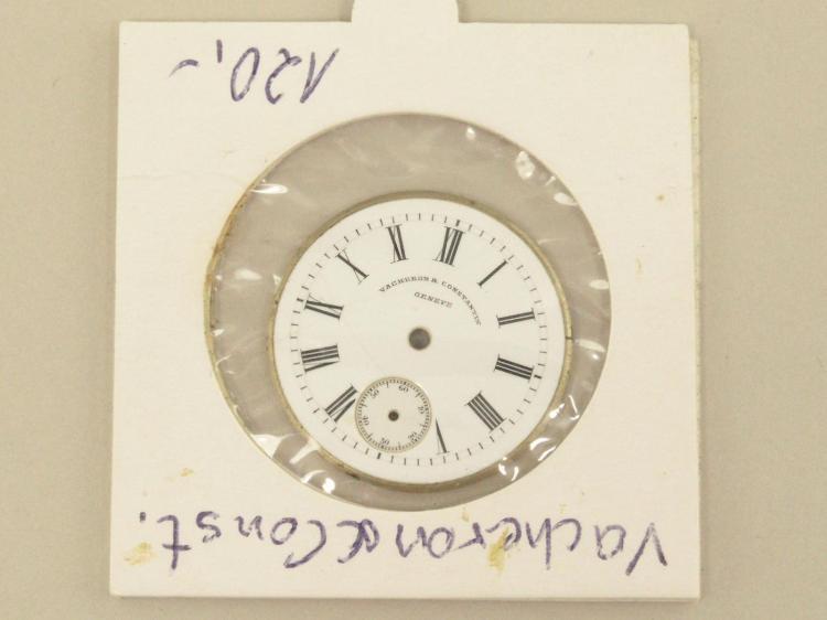 Armbanduhr: Emaillezifferblatt einer Vacheron & Constantin Armbanduhr, vermutlich um 1920