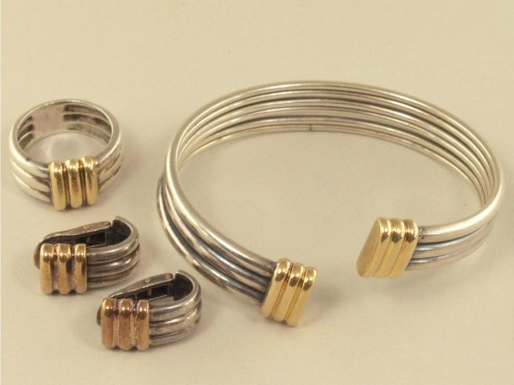 Armreif/Armspange/Ring/Ohrclips: hochwertiger Markenschmuck von Perrin