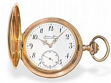 fine pink gold huntingcase watch Audemars Freres Geneve & Brassus, ca. 1900