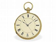 Pocket watch: Rare pocket watch for Chinese market, 18K gold
