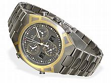 rare chronograph Omega Seamaster 1/100sec titanium/gold