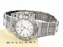 sportive lady's watch, stainless steel, Bvlgari Diagono, box and ceritficates