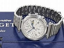 rare chronometer Forget with chronograph and moon, original box and chronometer certification