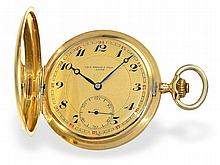 high-grade and heavy gold huntingcase watch, Tissot Locle ca. 1915