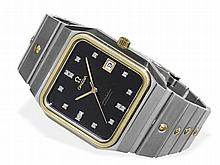 extraordinary big Omega Constellation Automatic, diamond dial and square case