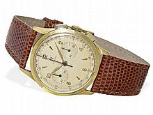 Omega chronograph cal. 320, 18 K gold, from the 50s