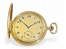 fine gold huntingcase watch ca. 1910, J.H. Hassler La Chaux-de-Fonds