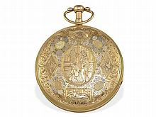 big gold/enamel verge watch with repetition, prime quality, David L. Gide Geneve, ca. 1810