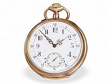 precision pocket watch System Glashütte, 14 K pink gold