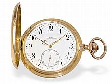 heavy golden precision pocket watch, Tavannes Chaux-De-Fonds ca. 1950