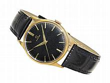 rare Omega watch with black dial, made for British market, 1954