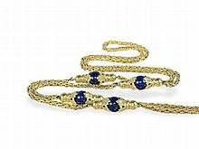 long necklace with lapislazuli