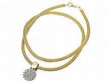 necklace with diamond pendant