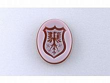 Antique coat of arms carved gem