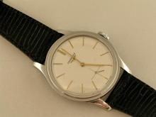 Armbanduhr: sehr große Longines Herrenuhr in Edelstahl, 50er Jahre, Ref. 6881