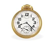 Pocket watch: very rare railwaymen's watch, Waltham Vanguard Ankerchronometer watch with power reserve indication and 'Montgomery-Dial', USA 1931 (NO LIVE FEE)