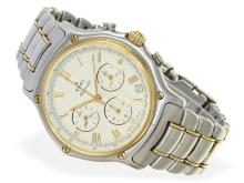 Wristwatch: sportive gentlemen's chronograph Ebel 1911 El Primero REF. 1134901, from the 90s, original box (NO LIVE FEE)