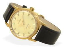 Wristwatch: Omega rarity, golden gentlemen's watch Omega Seamaster ref. 2850 SC, Olympic watch XVI Melbourne, 1956 (NO LIVE FEE)