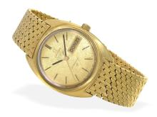Wristwatch: rare gentlemen's watch, 18 K gold, Omega Constellation Automatic Chronometer, weekday and date, caliber 751, from the 70s (NO LIVE FEE)