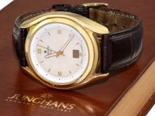 Wristwatch: rare limited gentlemen's watch 'Junghans Integral Mega', anniversary edition 1861, rare 18 K gold edition, with original box and original certificates (NO LIVE FEE)
