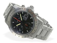 Wristwatch: vintage Sinn racer's chronograph, unused condition with original box, ref. 303 (NO LIVE FEE)