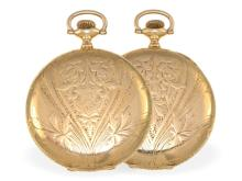 Pocket watch: fine Art Nouveau hunting case watch, 14 K gold, Elgin USA 1901 (NO LIVE FEE)