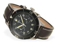 Pocket watch: big military chronographs 'Heuer German Armed Force Flyback', pilot's watch from the 90s (NO LIVE FEE)