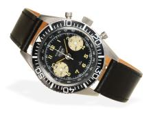 Wristwatch: early Heuer Autavia chronograph caliber Valjoux 23, probably from the 60s (NO LIVE FEE)