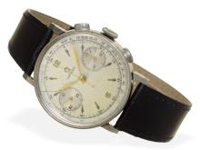 Wristwatch: rare and very big Omega steel chronograph from 1941 (NO LIVE FEE)
