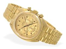 Wristwatch: high-grade vintage Omega Seamaster chronograph, solid 18 K gold, from 1968 (NO LIVE FEE)