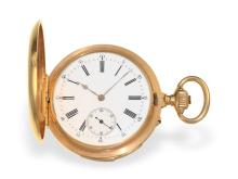 Pocket watch: very fine gold hunting case watch minute repeater Audemars Freres Brassus No.12600, delivered to Gustavo Wüst in Buenos Aires, ca. 1890 (NO LIVE FEE)