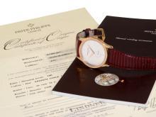 Wristwatch: big and very fine gentlemen's watch, pink gold, Patek Philippe Calatrava REF.5196R (NO LIVE FEE)