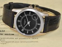 Wristwatch: very rare and limited Patek Philippe Calatrava 'LIMITED EDITION 1000 PIECES' ref. 5000, grey gold, glazed back, original certificate and original box (NO LIVE FEE)