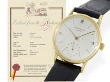 Wristwatch: fine and classy gentlemen's watch by Patek Philippe, reference 2494, Geneva ca. 1955, PP extract (NO LIVE FEE)