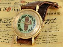 Wristwatch: very rare Vacheron & Constantin Geneve ref 4412 with cloisonné dial, original certificates and box, 1953 (NO LIVE FEE)