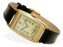 Wristwatch: very rare early gentlemen's watch by A. Lange & Söhne Glashütte, 'tonneau', probably from the 30s (NO LIVE FEE)