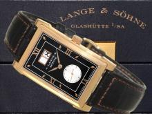 Wristwatch: very fine gentlemen's watch A. Lange & Söhne Glashütte 'CABARET REf.107.031', pink gold, with original box and certificates (NO LIVE FEE)