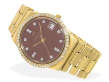 Wristwatch: unique vintage Eterna-Matic 3003 with original diamond bezel and diamond dial, certified unique piece made for Saudi Arabia (NO LIVE FEE)