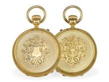 Pocket watch: very fine and heavy Ankerchronometer, important Geneva chronometermaker, original box, Paul Jeannot Geneve ca. 1875 (NO LIVE FEE)