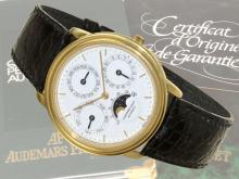Wristwatch: elegant, very fine and limited astronomic gentlemen's watch Audemars Piguet 'QUANTIEME PERPETUEL AUTOMATIQUE no.4133' (NO LIVE FEE)
