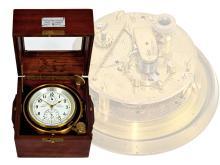 Box chronometer/ship's chronometer: Chronometerwerke Wempe Hamburg no.5831, ca.1950 (NO LIVE FEE)