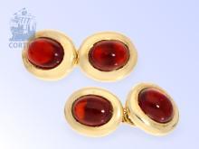 Manschettenknöpfe: Goldschmiedeanfertigung hoher Qualität, rote Turmaline
