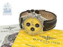 Wristwatch: sportive Breitling chronograph with box and certificates, 'Chronomat Longitude GMT Ref. A20048', like new (NO LIVE FEE)