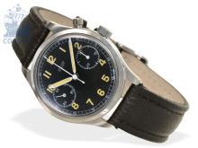Wristwatch: rare Tissot chronograph with black dial, ca. 1950 (NO LIVE FEE)