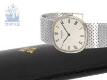 Wristwatch: heavy white gold Patek Philippe gentlemen's watch Ref. 3544 'Cushion' with original box, ca. 1970 (NO LIVE FEE)