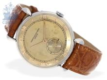Wristwatch: very rare and early Vacheron & Constantin stainless steel gentlemen's watch from 1943, 'Teardrop Lugs', with extract of the archives (NO LIVE FEE)