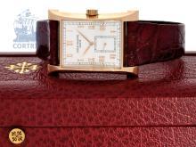 Wristwatch: popular, big and limited gentlemen's watch Patek Philippe 18K PINK GOLD 1997 Commemoration Pagoda, Ref.5500, unused, with original box (NO LIVE FEE)