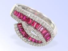 High-quality ruby and diamond ring